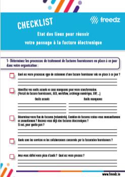 Checklist passage vers la facture électronique