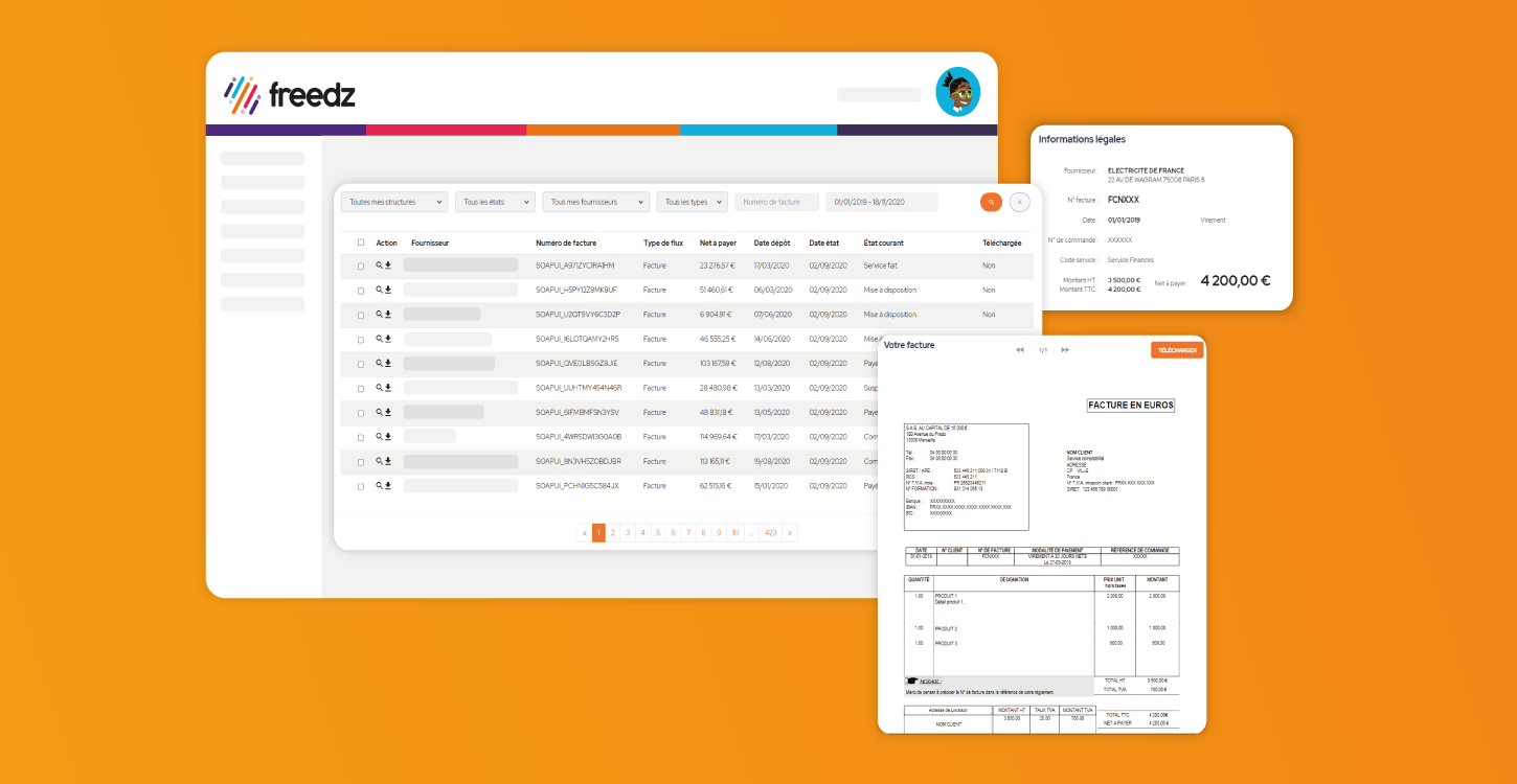 Dematerialize the management of supplier invoices